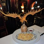 An eagle carved by our chef out of pumpkin