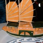 A boat carved by our chef out of cantelope