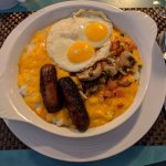 Grits plate at the Magnolia was filling and tasty!