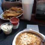 Fish & Chips and Shrimp Gumbo