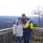 Jen and I on Pilot Mountain for the Sunset