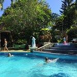 Gunung Paradis's large swimming pool with separate children's pool
