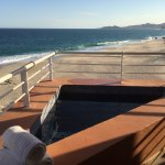 We used the hot tub on our balcony and listened to waves pound the sand.
