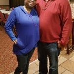 Birthday man with his wife!
