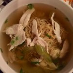 Chicken Noodle and Wonton Soup