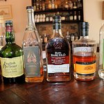 Our line up of six rums for our taste testing.  #Rum #CookingwithRum