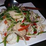 tasty spicy seafood salad