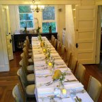 Dining Room set for a private event.