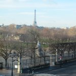 From room 218 - Tuileries gardens with Eiffel Tower in distance