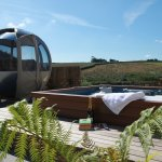 Our secluded hot tub garden
