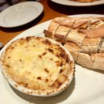 Warm bread with crab dip