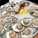 2 dozens oysters (50% off raw bar happy hour)