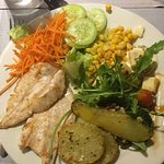 Self service dining - Grilled chick/salad bar