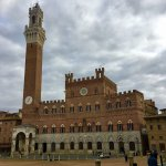 View of the tower on Piazza del Campo