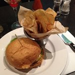 Burger with house made chips