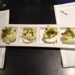 Deviled Eggs with spicy Best Maid pickles