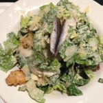 Caeser Salad - check out the real, whole anchovies!