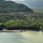 Danube and the village across