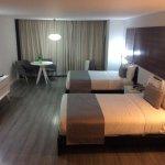 Una habitación confortable y espaciosa.
