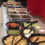 The taco and fajita party spread