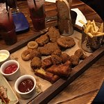 Feast with friends sharing platter