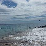 Petite plage a gauche du site