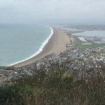 Nearby Chesil beach from Portland