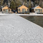 Lakefront cabins