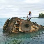 HMS Vixen wreck (short boat trip, don't cut yourself)