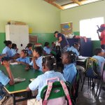 school visit and interacting with the children