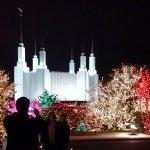 Holiday Lights Display athe Mormon Teemeple