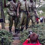 Photographing the Vietnam Three Servicemen Memorial