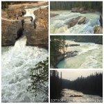 矗立河中的數塊巨石,經年累月在急湍冰河衝擊下,被衝出了破洞,所以形成了一座像是橋的樣子。
