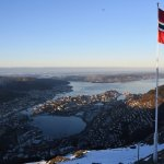 Gorgeous panoramic views of Bergen, the fjords, and the mountains.