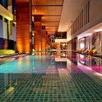 Relaxing swimming pool at Renaissance Bangkok Hotel
