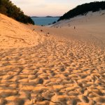 Carlo Sand Blow at sunset.