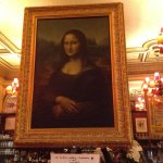 I saw the Mona Lisa! Copy inside restaurant.
