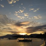 A golden sunset looking West towards Binictican Point.