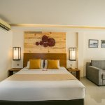 Superior suites have a double bed and living area