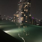 Infinity edge pool - located on the 25th floor.