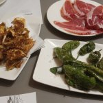 Crispy Artichokes, Iberico Ham, Padron Peppers