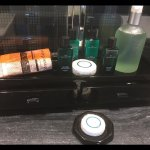 Complimentary Hermes toiletries