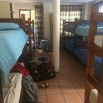 10-person dorm directly beneath reception