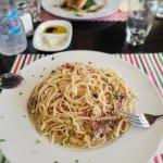 Linguini Carbona with Prosciutto Parma