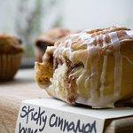 Our very sticky cinnamon buns