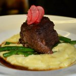 Tender braised short rib, Yukon gold mashed potato, green beans, and house pickled horseradish