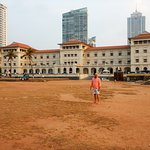 View of the hotel from the Galle Face Green