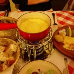 Raclette and cheese fondue