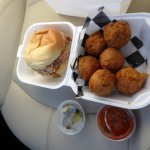 Pulled Pork Combo with Hushpuppies