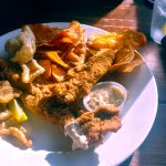 wonderful catfish platter with home made chips